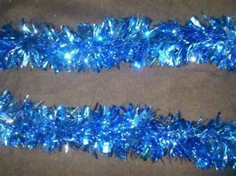 thick tinsel thick tinsel garland blue tinsel foil garlands