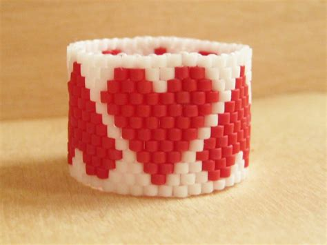 how to make beaded rings hearts beaded ring how did you make this luxe diy