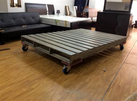 bed frame on wheels 10 ideas about pallet bed frames 99 pallets