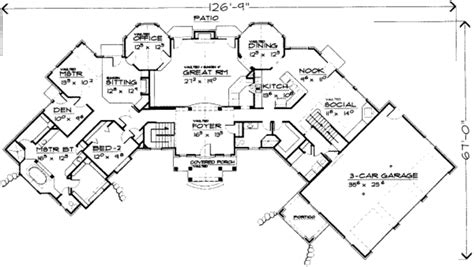 8 bedroom house floor plans european style house plan 8 beds 4 50 baths 3913 sq ft