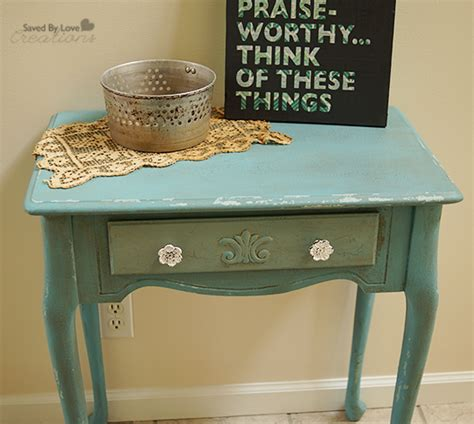 chalk paint distressing diy side table flip distressed with chalk paint
