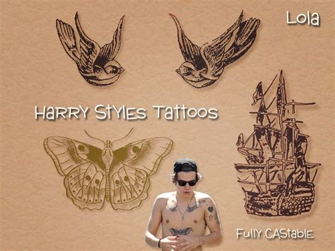 sims and just stuff harry styles tattoos