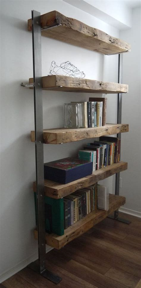 wood and metal shelves made reclaimed barn wood and metal shelves