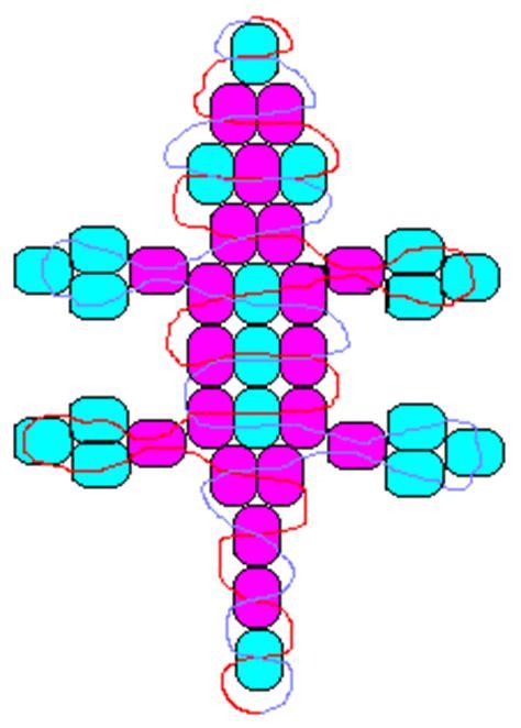 gecko pony bead pattern baby lizard 2