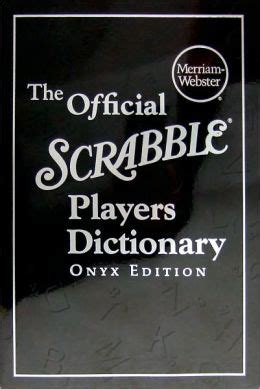 ed scrabble dictionary the official scrabble 174 players dictionary onyx edition