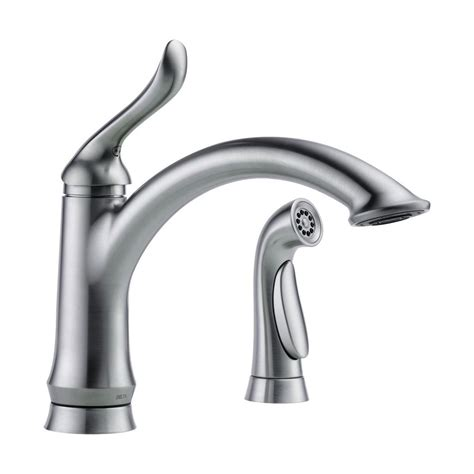 delta kitchen faucet with sprayer delta faucet 4453 ar dst linden single handle side sprayer