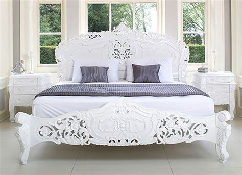 white shabby chic beds rococo bed shabby chic style bedroom other