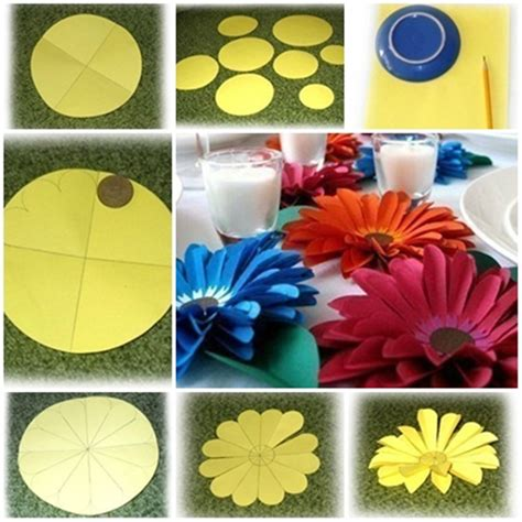 paper cutting flowers crafts diy easy paper flower