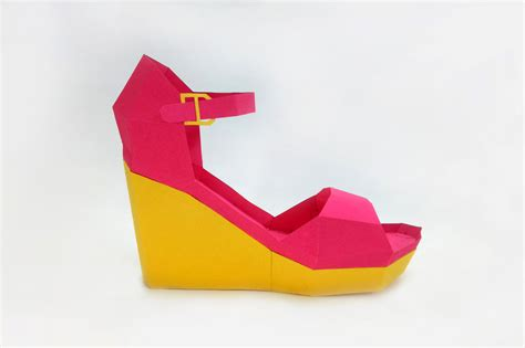 paper craft shoes diy high heel shoe 3d papercraft by paper amaze