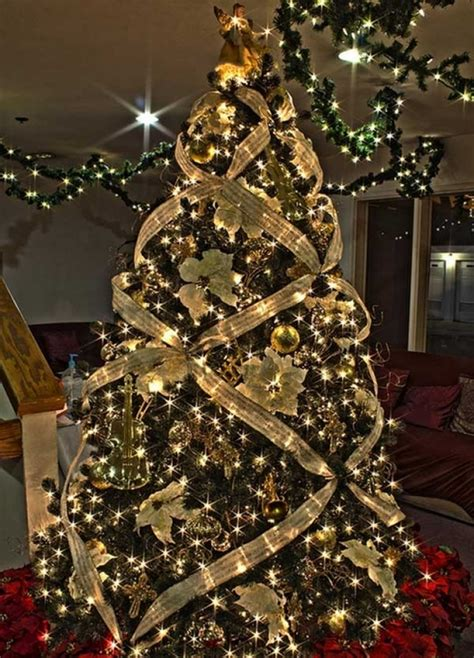 ideas for decorating a tree with ribbon tree ribbon decoration ideas designcorner