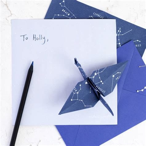 origami with lined paper stariami origami letter writing set by newton and the
