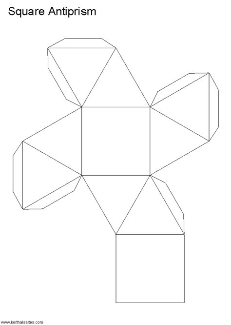 rectangular prism origami net rectangular antiprism paper craft
