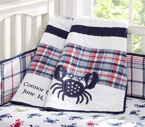 crab crib bedding crab madras nursery bedding pottery barn