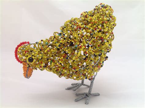 bead and wire crafts wire bead craft hen medium auradecor