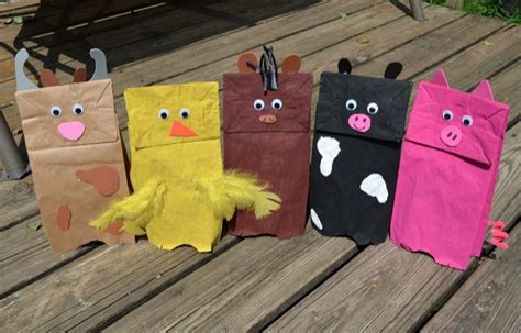 brown paper bag crafts for preschoolers farm themed brown paper bag puppets for preschool