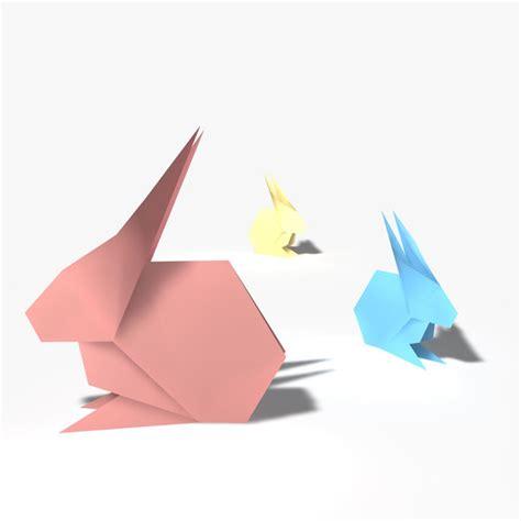 3d origami rabbit 3d model origami rabbit