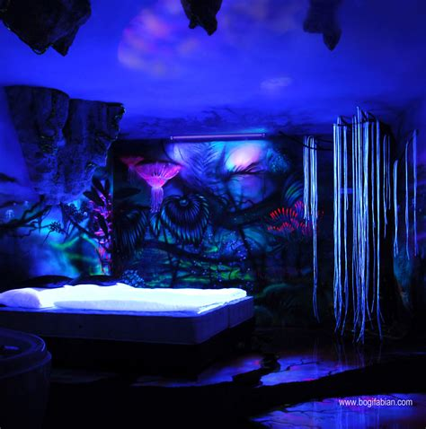 glow in the paint wall murals glowing murals turn rooms into dreamy worlds
