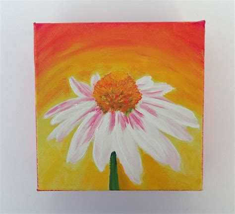 small acrylic painting ideas acrylic painting colorful small canvas flower