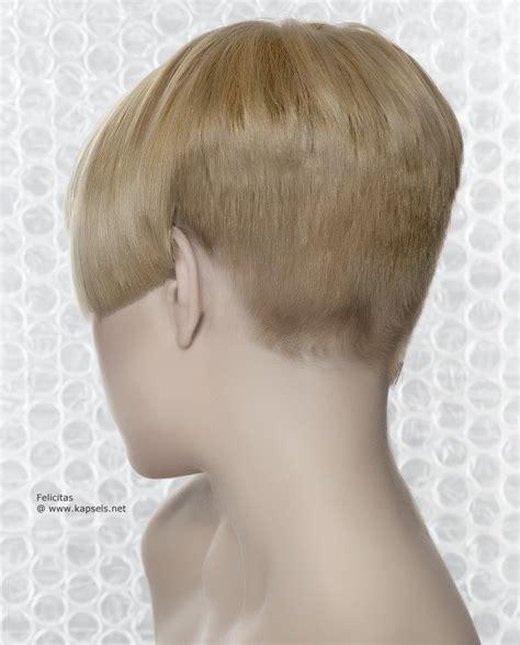 bobbed haircut with shingled npae kort kapsel met uitdunning in de nek en scherp gehoekte zijden