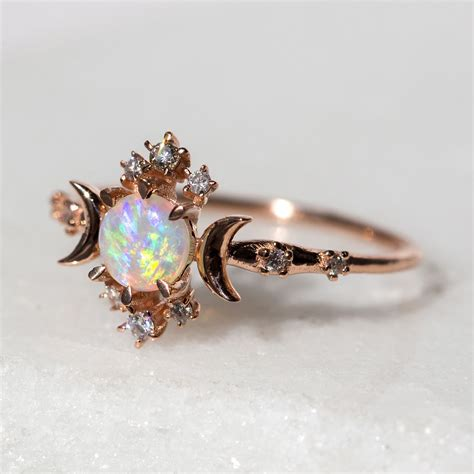 Opel Rings by Wandering Ring Opal Catbird Future Wedding