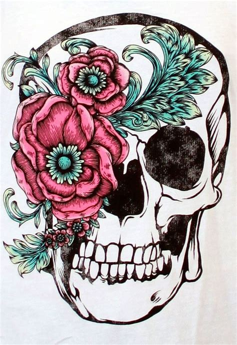 25 best ideas about flower skull tattoos on pinterest