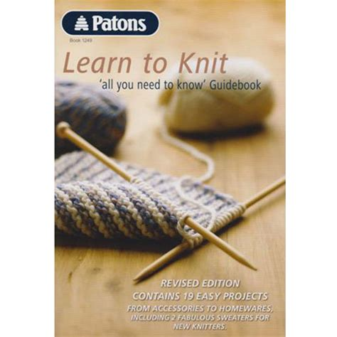is learning to knit patons learn to knit book 1249 knitting yarns by mail