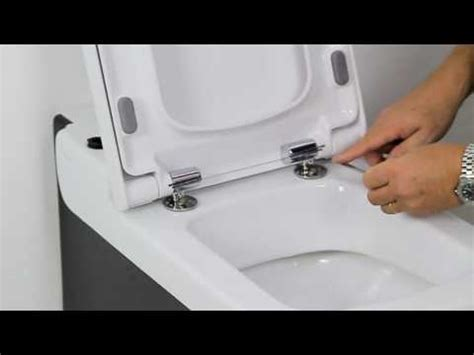 How To Tighten A Duravit Toilet Seat how to install a soft close toilet seat youtube