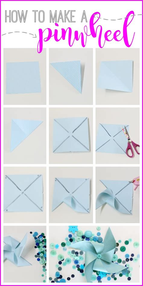 how to craft a paper pinwheel summer brunch sugar bee crafts