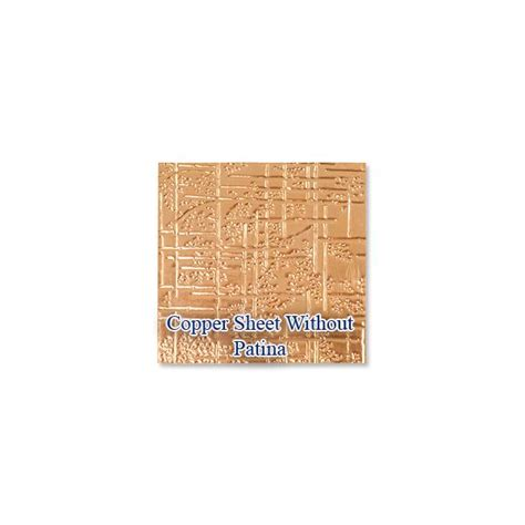 copper sheets for jewelry copper sheet lillypilly bamboo embossed azul patina