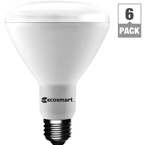 dimmable led light ecosmart 65 watt equivalent soft white br30 dimmable led