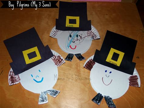 pilgrim paper plate craft paper plate pilgrim craft learn link with linky