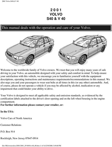 car repair manuals online pdf 2003 volvo v40 user handbook service manual 2001 volvo v40 owners manual download volvo v40 owners manual pdf download