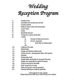 program for wedding program template 61 free word pdf psd