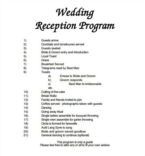 layout program free wedding program template 61 free word pdf psd