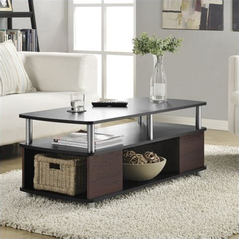cherry coffee table with storage coffee table with storage in cherry and black 5094196