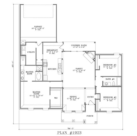 house plans with open floor plan rear garage