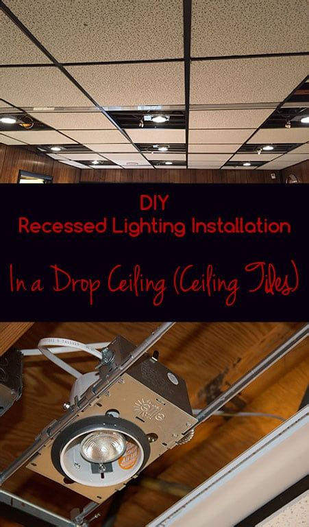 how to install recessed lighting in ceiling diy recessed lighting installation in a drop ceiling