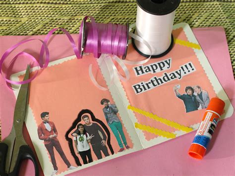 how to make a birthday card step by step how to make a birthday card for a one direction fan 7 steps