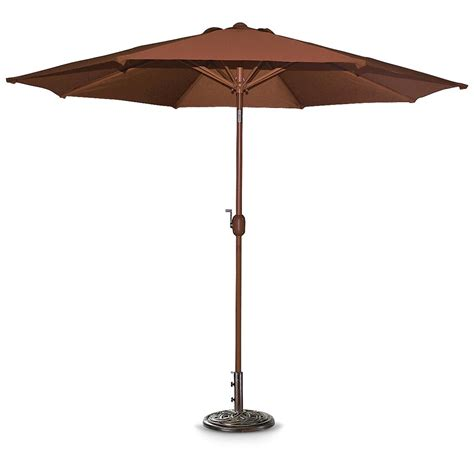 crank and tilt patio umbrella 9 aluminum pole crank tilt patio umbrella henna