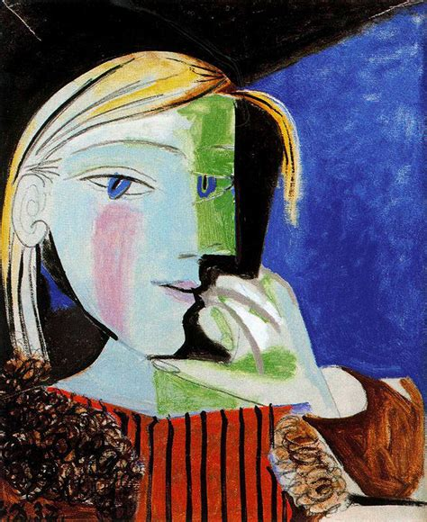 picasso paintings of therese lonequixote portrait of th 233 r 232 se walter 1937