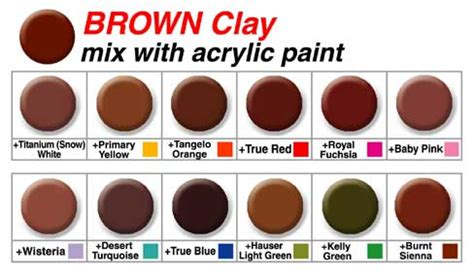 paint colors to make brown makin s mixing chart