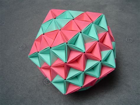 origami icosahedron paper crafts origami on origami paper
