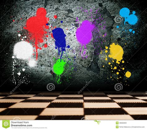 spray painting on walls colored spray paint on the wall stock photos image