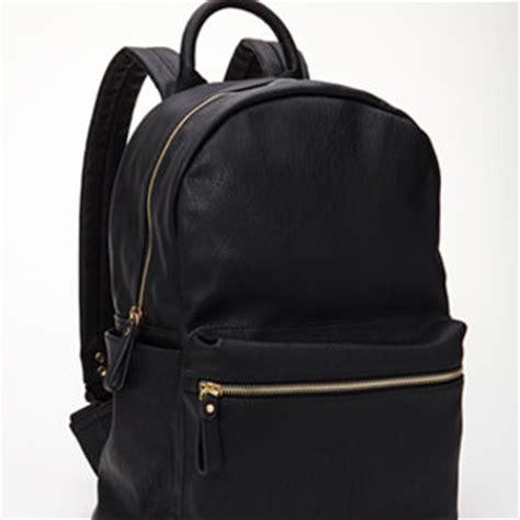 black leather backpacks shop black faux leather backpack on wanelo