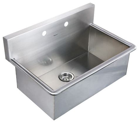stainless steel laundry room sink whitehaus whnc3120 31 quot noah stainless steel laundry
