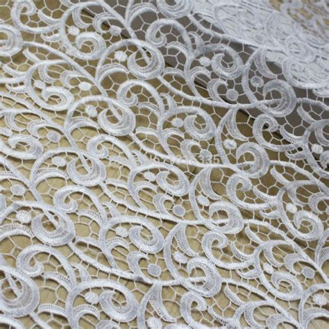lace fabric 5 yards120cm width white cord lace
