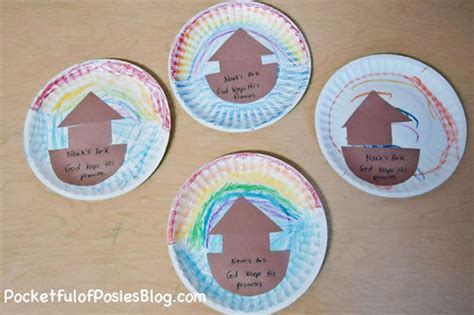 paper plate bible crafts sunday school crafts noah s ark blessings overflowing