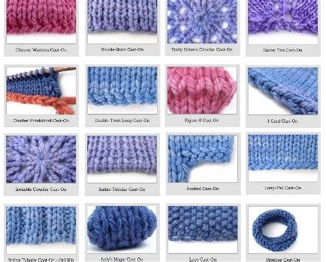 different knitting stitches knitting for beginners 38 different and awesome cast on