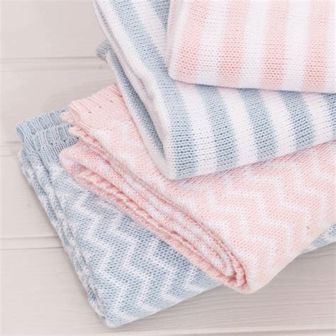 baby knitted shawl stripe knitted pink baby shawl by the cotton
