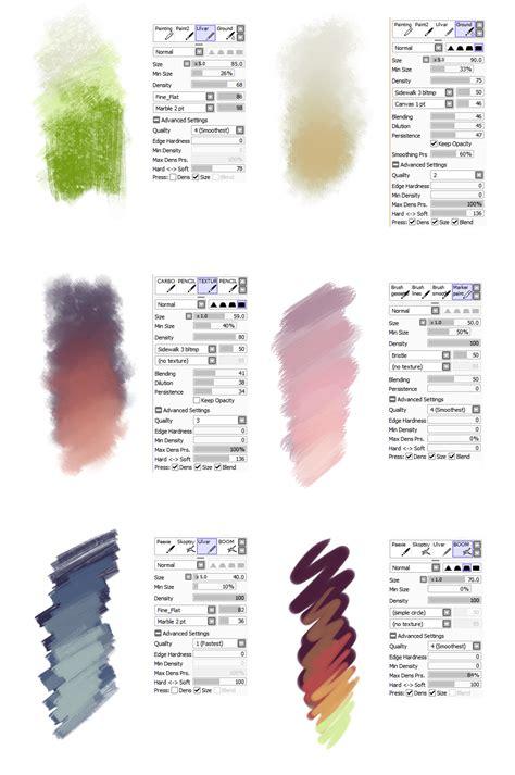 paint tool sai hair brush brush settings by sirwendigo http sirwendigo deviantart